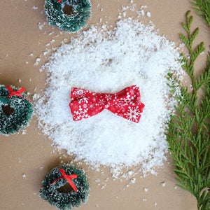 Snowflake Lane School Girl Bow - Christmas Collection