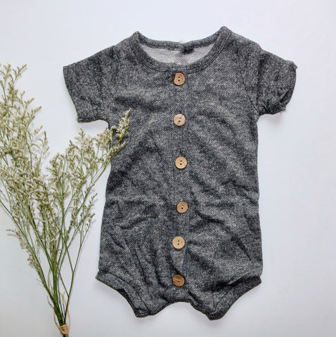 Lazy Days Romper in Gray