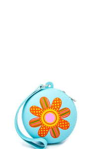 Nicole lee nikky flower design silicone coin purse wallet