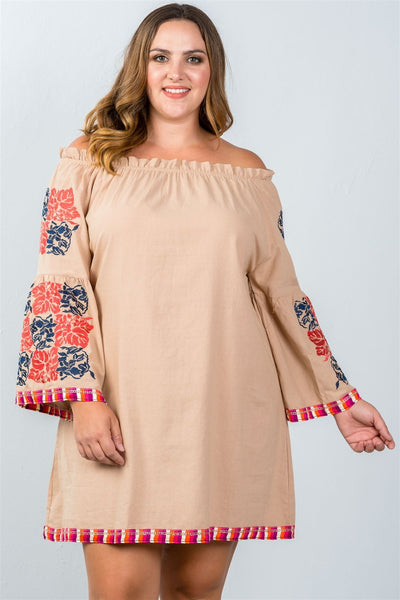 Boho bell sleeve tunic dress