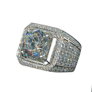 Beautiful Iced Out Engagement Ring Chevons