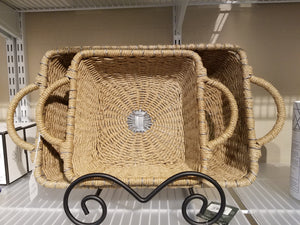 IHI Rectangular Jute Casserole Carrier, 8 x 8