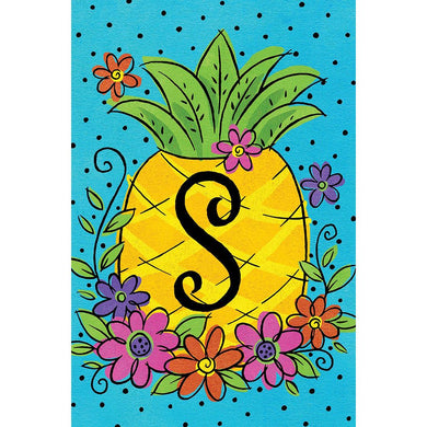 CD Pineapple Flowers Mini Flag S