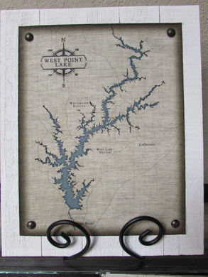 BF West Point Lake Map Sign, Lg