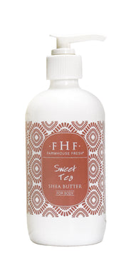 FHF Shea Butter Body Lotion, Sweet Tea