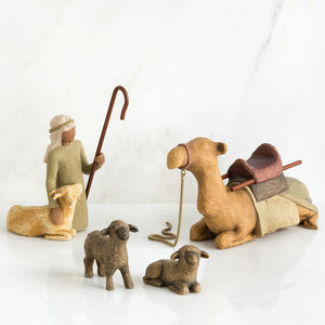 Willow Tree Shepard & Stable Animals