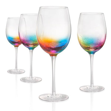 Neon White Wine Glass
