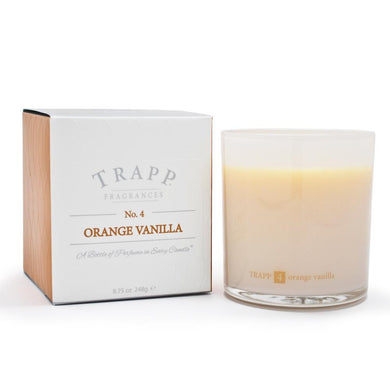 Trapp Orange-Vanilla candle, 8.75 oz Lg Ambiance