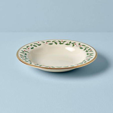 Lenox Holiday Rimmed Soup Bowl