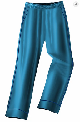 Galleria Lounge Pants - Satin Turquoise