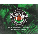 2019 Gold Rush Autographed Football Jerseys 6 Box Case PYT #2