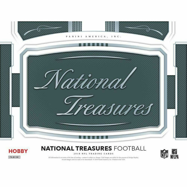 2018 National Treasures Football 4 Box Case PYT Break #30