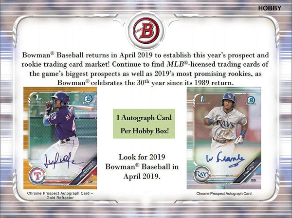 2019 Bowman HOBBY Baseball 12 Box Case PYT #8