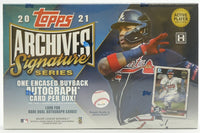 2021 Archives Signature Series Active Player Baseball 20 Box Case Random Hits Break #1