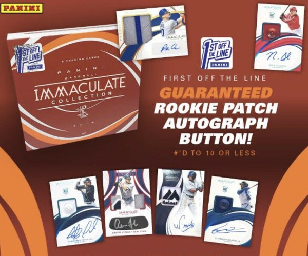 2019 Immaculate FIRST OFF THE LINE Baseball 2 Box PYT Break #1