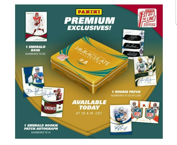 2019 Immaculate FOTL Football 2 Box PYT Break #14