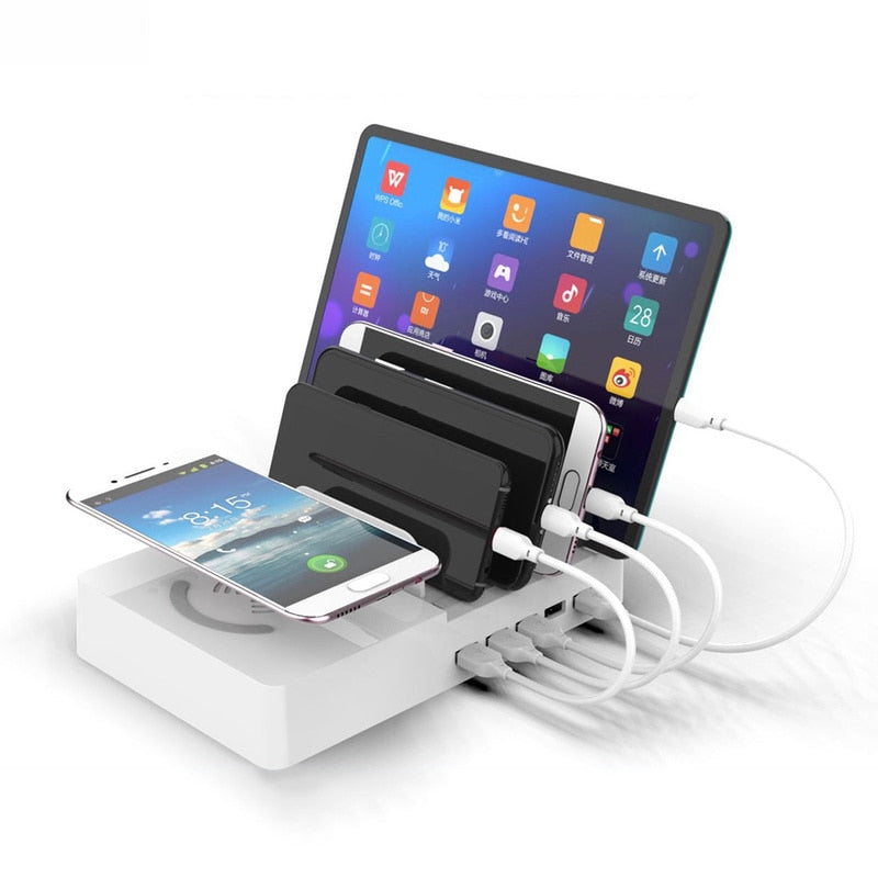 Multi-Port USB Smart QI Charging Dock Chargeur Rapide