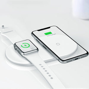 Chargeur sans fil 2 en 1 pour iPhone et Apple watch