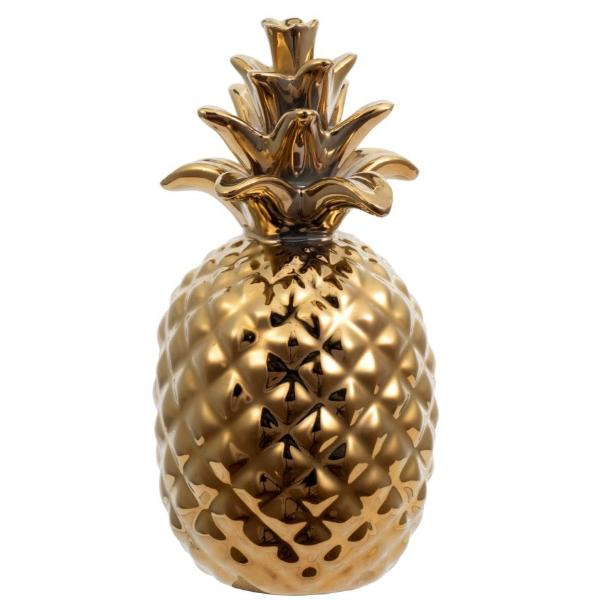 Gold Ceramic Pineapple