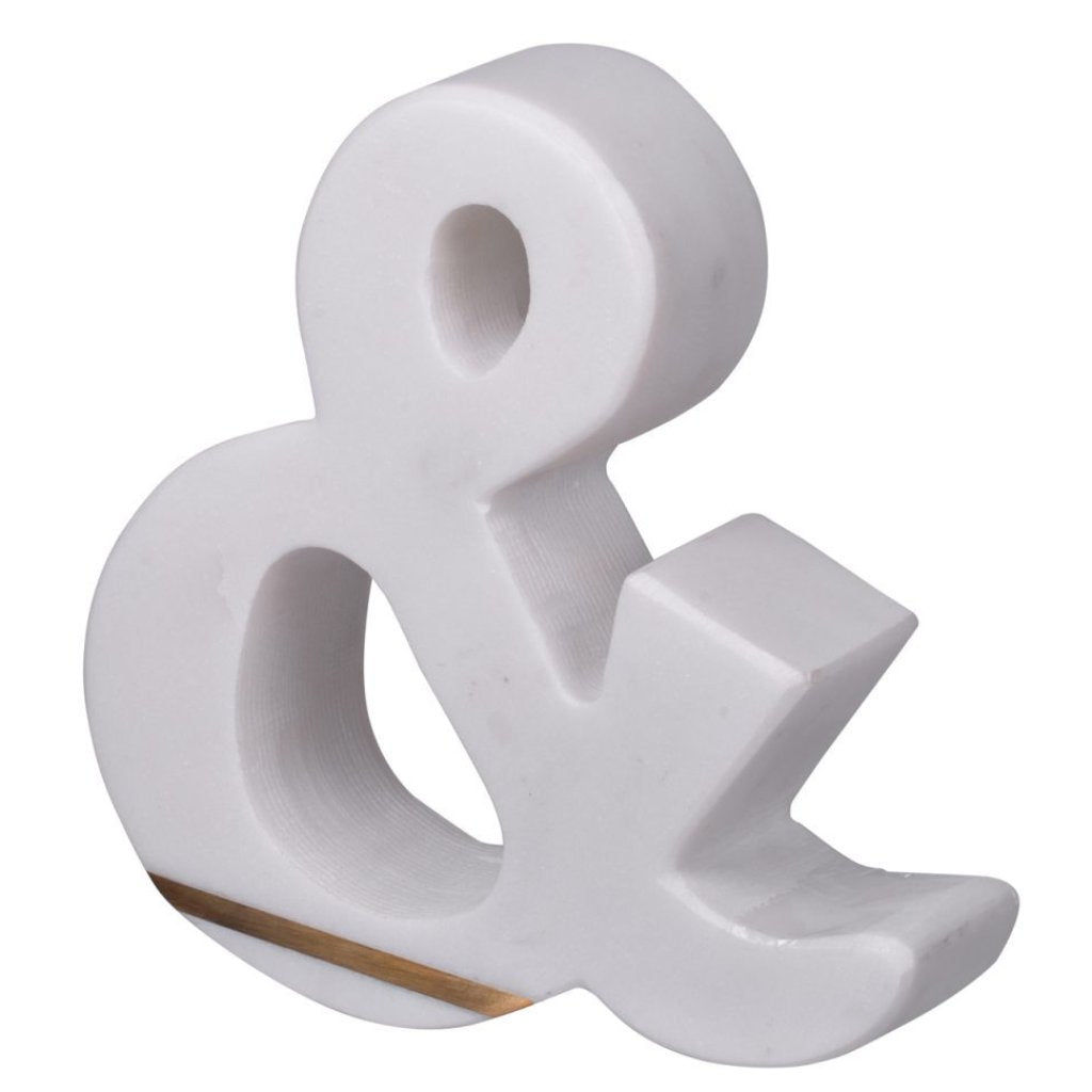 Marble Ampersand Sculpture