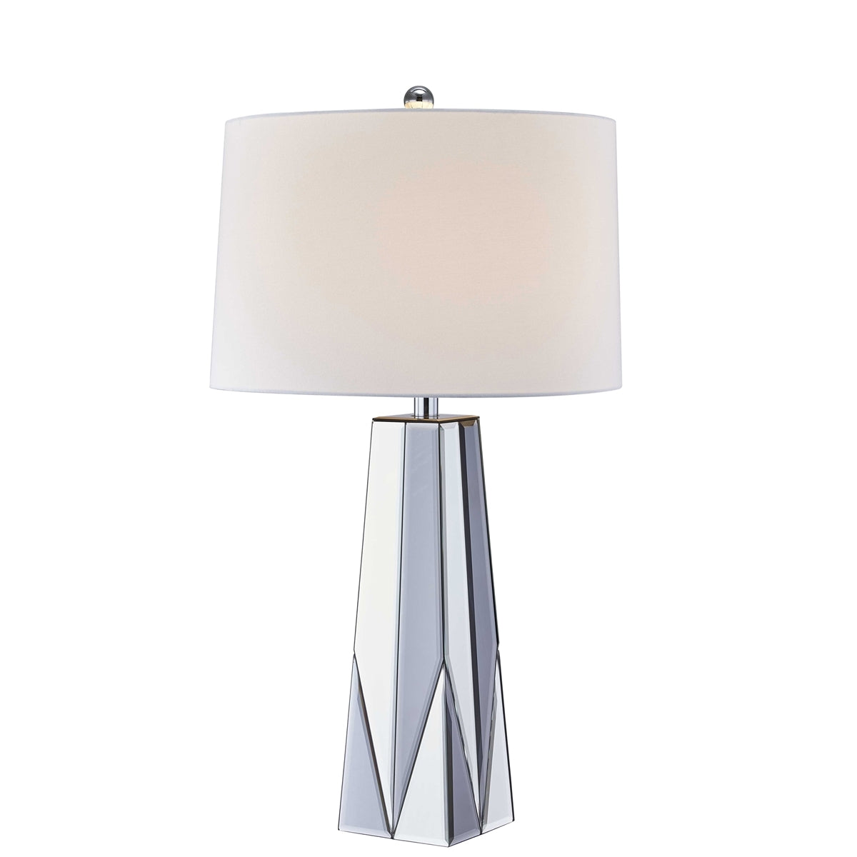 Clear Mirror Glass Table Lamp