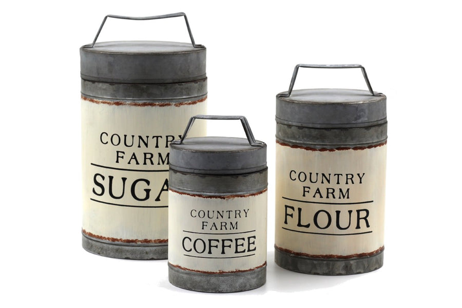 Rustic Farmhouse Kitchen Canisters