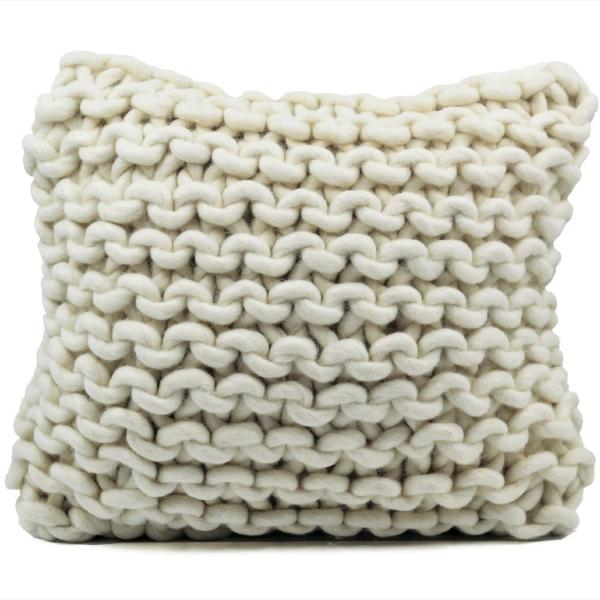 Chunky Knit Wool Throw Pillow