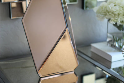 Rose Gold Mirrored Lamp