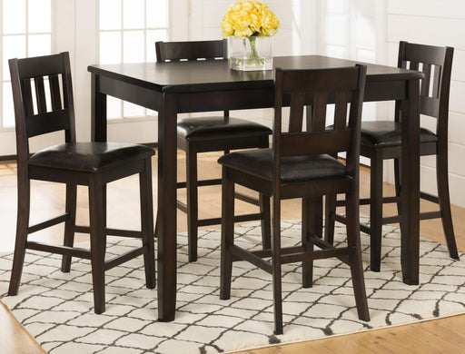 Dark Prairie 5 Pc. Counter Height Dining Set