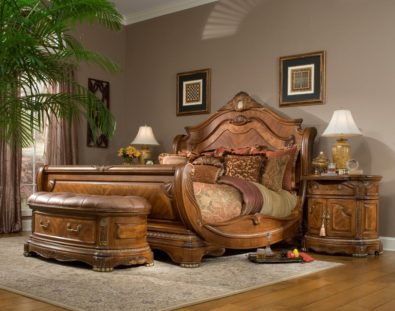 Cortina Honey Walnut Bedroom Collection