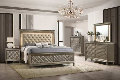 Carly Metallic Gold Bedroom Collection