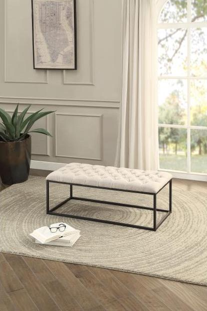 Destry Beige Bedroom Bench