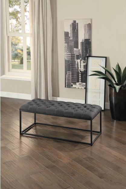 Destry Dark Grey Bedroom Bench