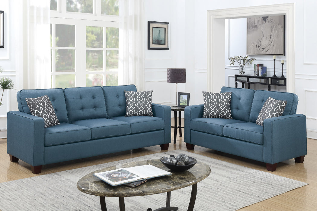 Enjoyable Miami 2 Pc Sofa Loveseat Set Download Free Architecture Designs Scobabritishbridgeorg