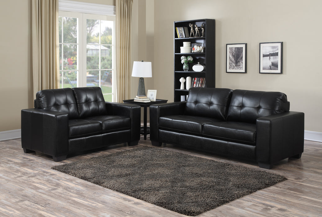 Black Sofa Living Room Set