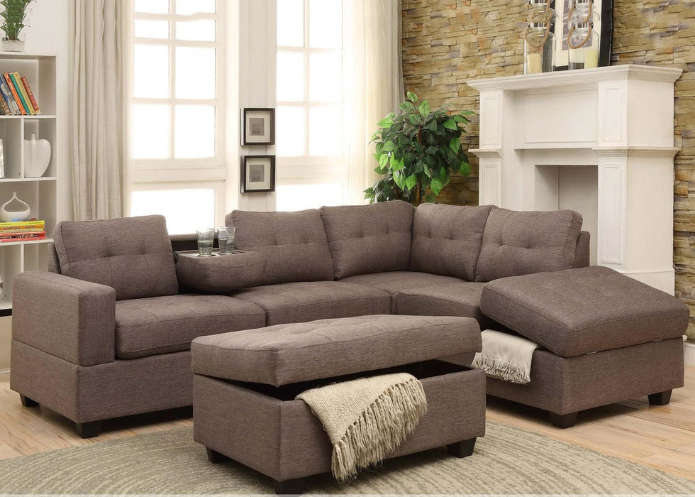Rena Sectional with Ottoman