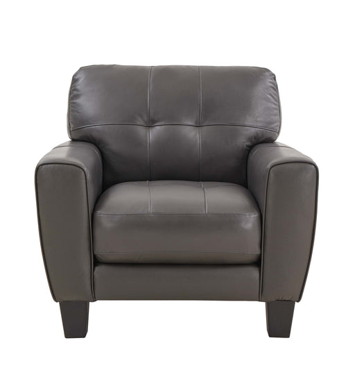 Roma Grey Leather Chair