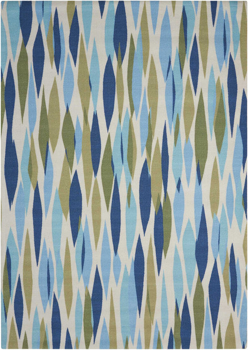 "Waverly Sun & Shade ""Bits & Pieces"" Seaglass Indoor/Outdoor by Nourison SND01"