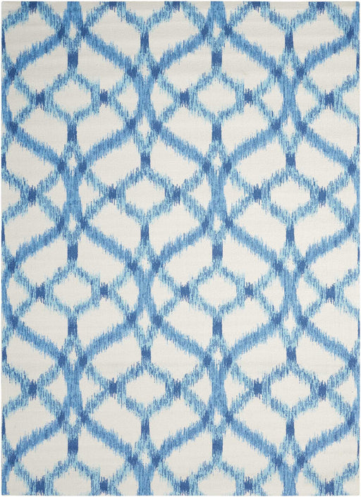 "Waverly Sun & Shade ""Izmir Ikat"" Aegean Indoor/Outdoor by Nourison SND05"