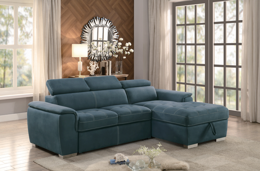 Ferriday Sofa Sleeper Sectional with Storage