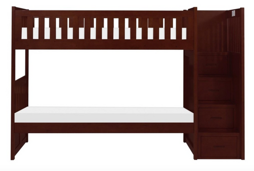 Rowe Twin/Twin Bunkbed with Storage Staircase