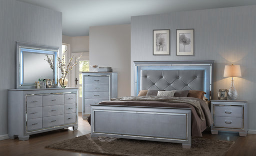 Silver LED Bedroom Set Sacramento