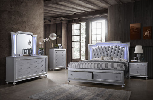 Victoria Silver Storage Bedroom Collection