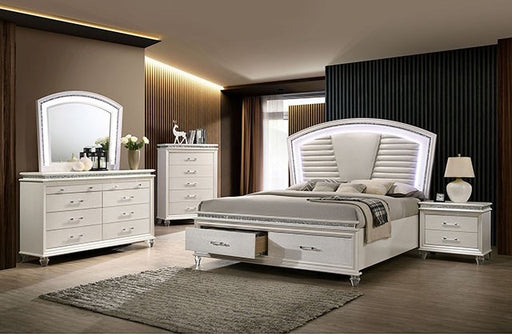 Adele Pearl White Storage Bedroom Collection