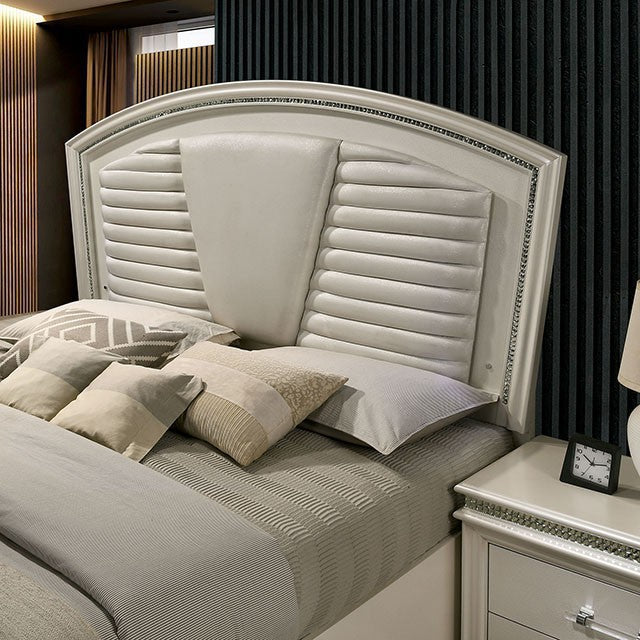 Adele Pearl White Storage Bedroom Collection Expo Furniture Gallery
