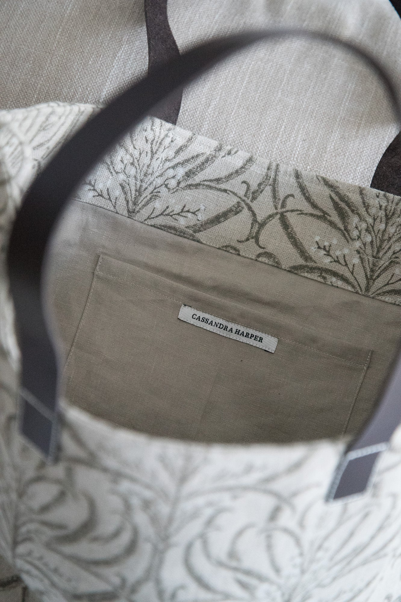 Linen Tote Natural Pattern
