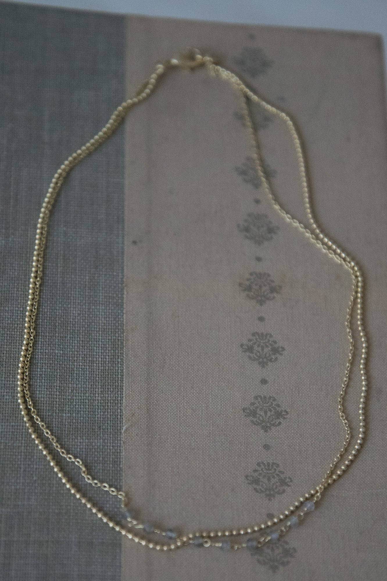 Double Chain Gold Necklaces
