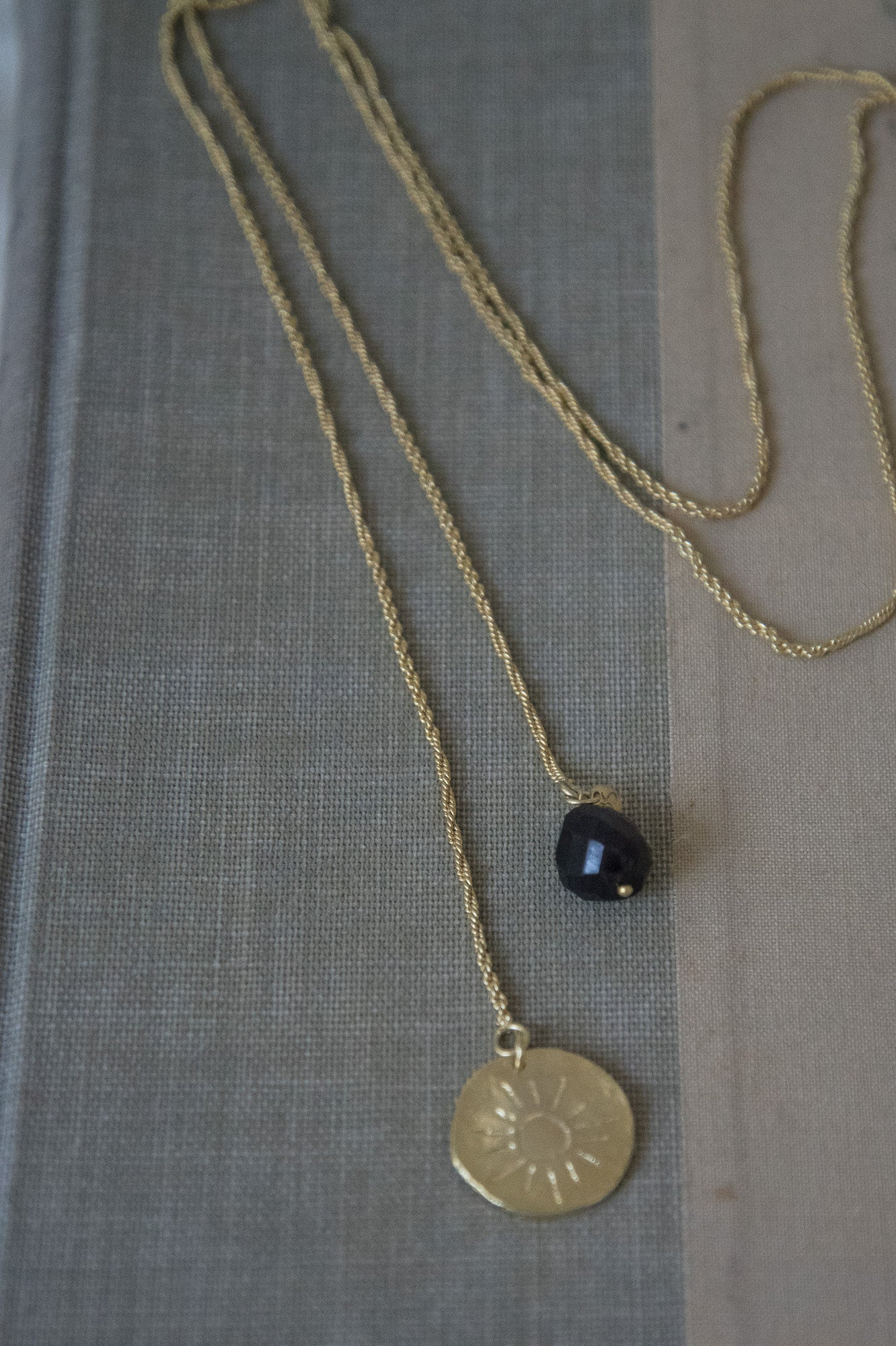 Gold & Garnet necklace