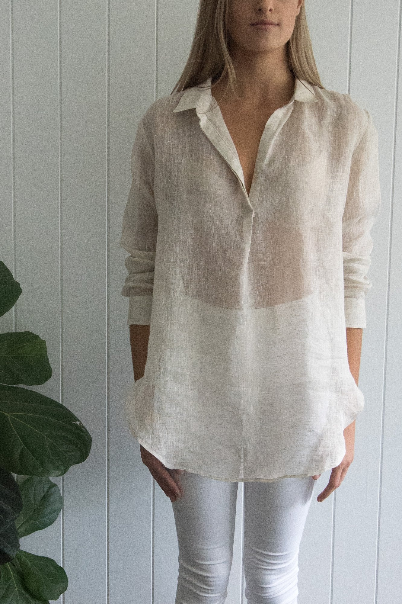Natural Linen French Shirt