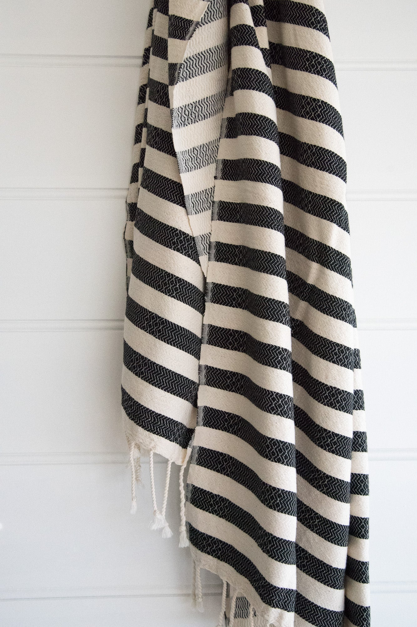 Turkish Towel Charcoal Stripe